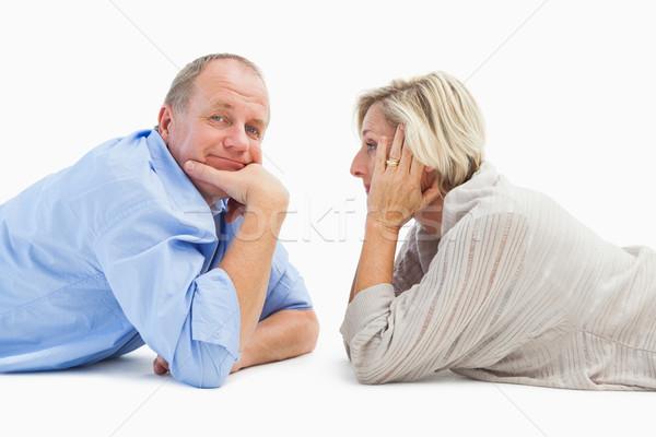 Mature couple lying and smiling Stock photo © wavebreak_media
