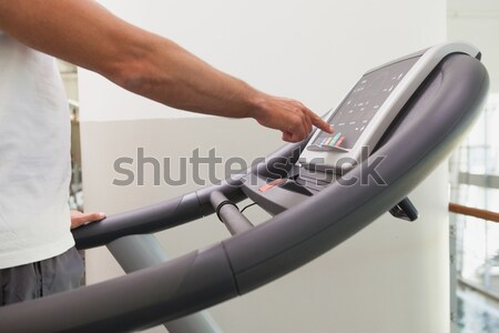 Fit man working out on treadmill Stock photo © wavebreak_media