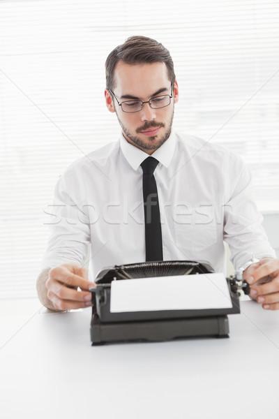 Imprenditore macchina da scrivere ufficio retro società Foto d'archivio © wavebreak_media