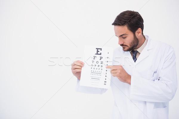 Médico bata de laboratorio examen de la vista blanco hombre Foto stock © wavebreak_media