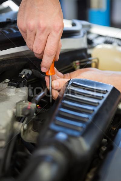 механиком рабочих ремонта гаража службе двигатель Сток-фото © wavebreak_media