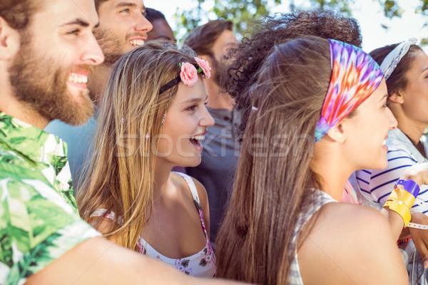 Mutlu hipsters dinleme yaşamak müzik müzik festivali Stok fotoğraf © wavebreak_media