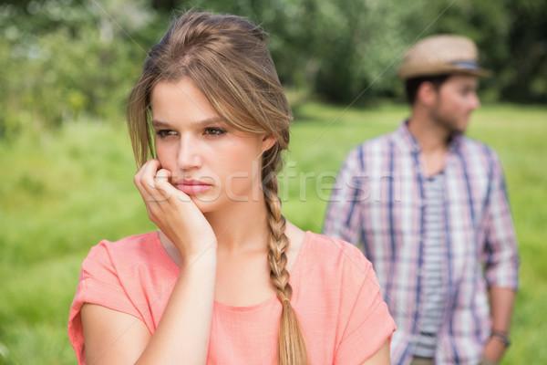 Couple not talking after argument Stock photo © wavebreak_media