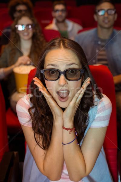 若い女性 を見て 3D 映画 映画 女性 ストックフォト © wavebreak_media