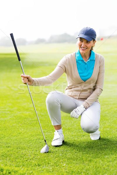 Kadın golfçü yeşil golf sahası kadın Stok fotoğraf © wavebreak_media