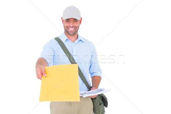 Portret postbode brief witte man baan Stockfoto © wavebreak_media