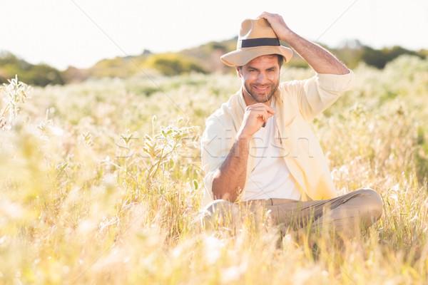Happy man smiling at camera Stock photo © wavebreak_media