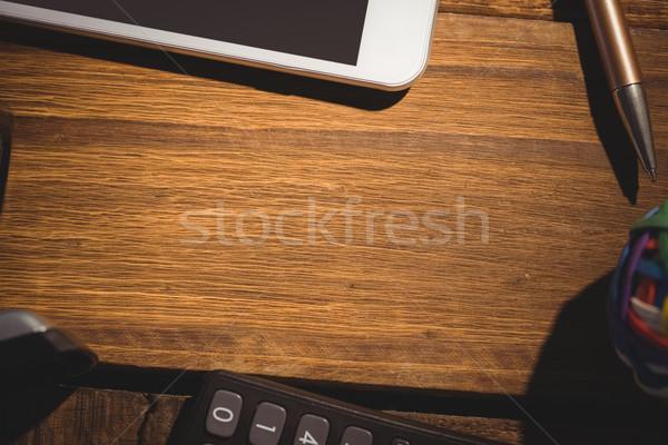 Overhead shot of students desk Stock photo © wavebreak_media