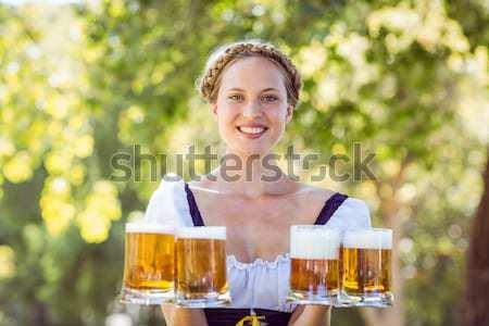 Bastante oktoberfest mujer Foto stock © wavebreak_media