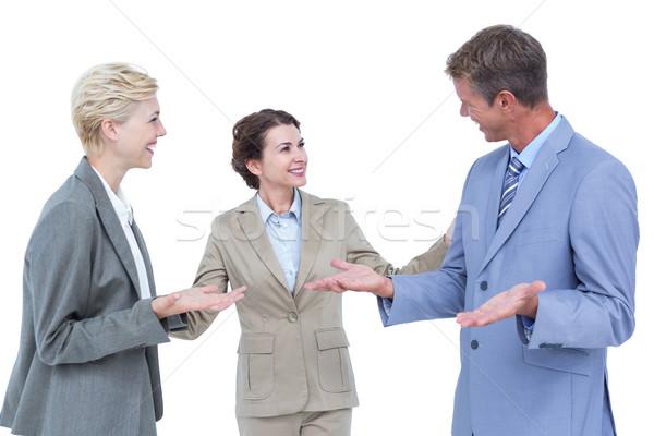 üzletemberek gyengéd fehér képernyő nő iroda Stock fotó © wavebreak_media