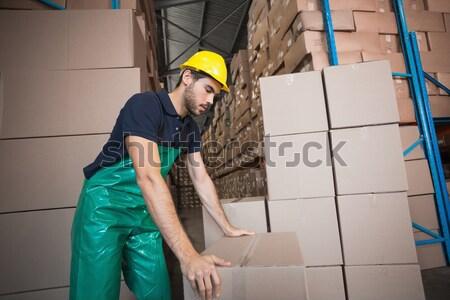 работник лестнице склад вид сбоку промышленности завода Сток-фото © wavebreak_media