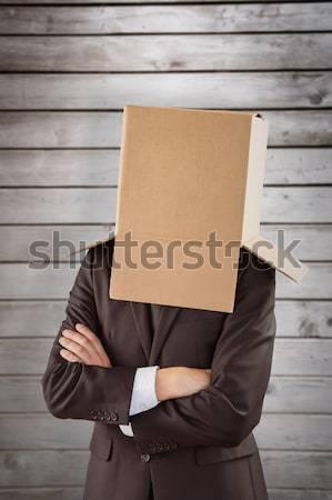 Anonim üzletember felajánlás kéz szürke férfi Stock fotó © wavebreak_media