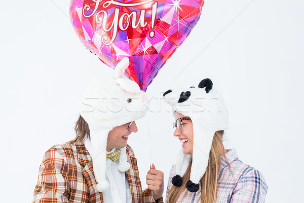Geeky hipster in love couple looking at each other Stock photo © wavebreak_media