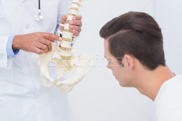 Orvos magyaráz anatómiai gerincoszlop beteg orvosi Stock fotó © wavebreak_media