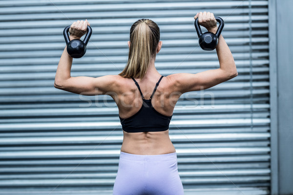 Muscular mujer vista posterior salud club Foto stock © wavebreak_media