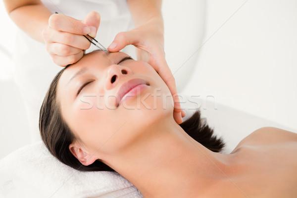Mulher paciente sobrancelha ver Foto stock © wavebreak_media