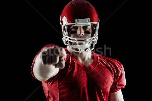 American football player pointing at camera Stock photo © wavebreak_media