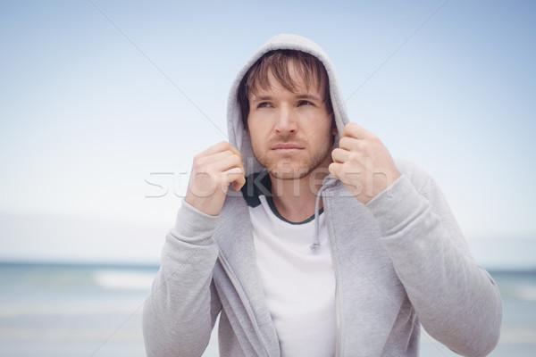молодым человеком пляж любви человека Сток-фото © wavebreak_media