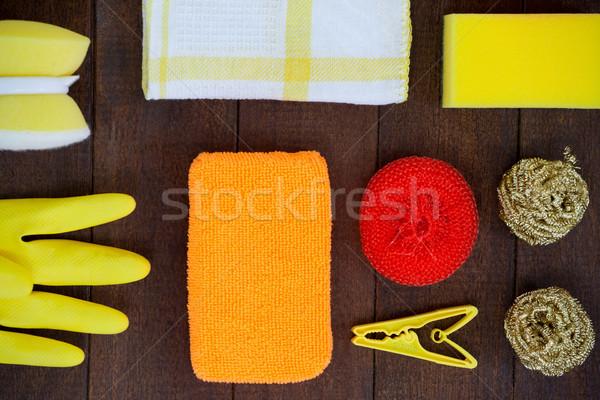 Stockfoto: Ingesteld · schoonmaken · uitrusting · home · fitness