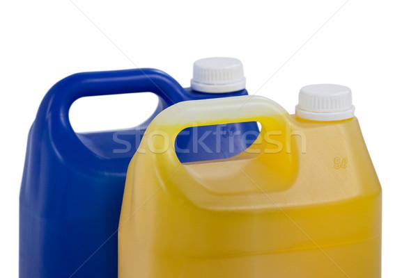 Due detergente bianco blu bottiglia pulizia Foto d'archivio © wavebreak_media