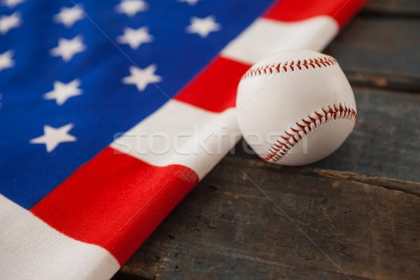 Beysbol amerikan bayrağı spor tablo mavi Stok fotoğraf © wavebreak_media