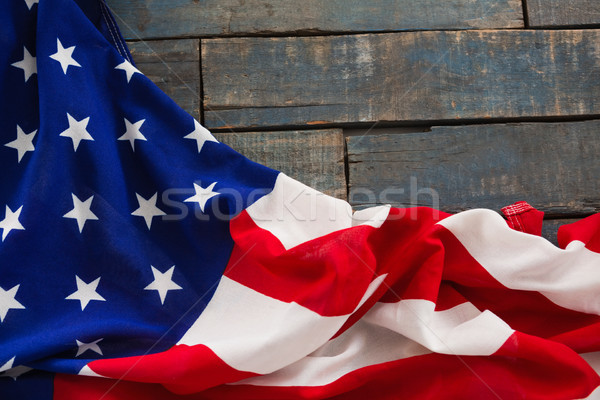 Amerikaanse vlag houten tafel achtergrond vlag drinken Stockfoto © wavebreak_media