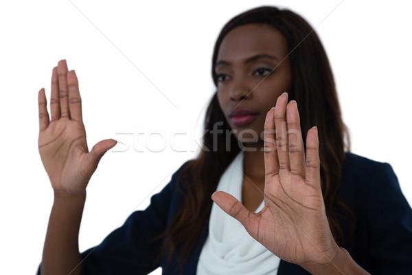 деловая женщина интерфейс белый технологий экране женщины Сток-фото © wavebreak_media
