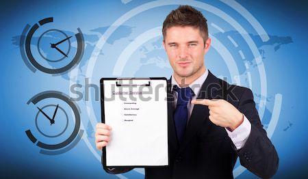 бизнесмен стороны белый Palm костюм Сток-фото © wavebreak_media