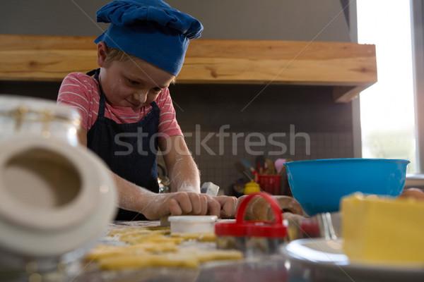Nino cookies cocina casa nino diversión Foto stock © wavebreak_media