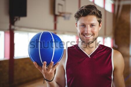 Koç voleybol mahkeme portre adam Stok fotoğraf © wavebreak_media