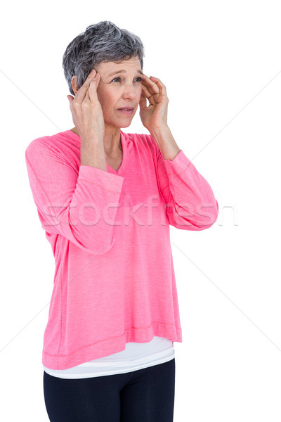Mature woman massaging head Stock photo © wavebreak_media
