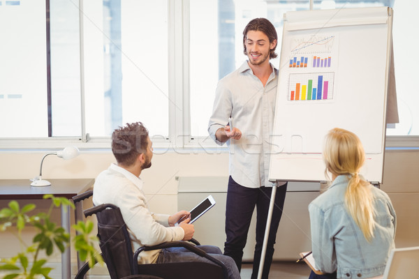 Smart businessman giving presentation Stock photo © wavebreak_media