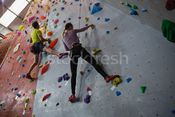 Ansicht Athleten Klettern Fitness Club Stock foto © wavebreak_media