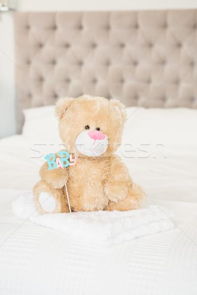 Oyuncak ayı bebek ev yatak oyuncak Stok fotoğraf © wavebreak_media
