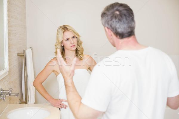 Upset couple having an argument Stock photo © wavebreak_media