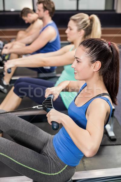 соответствовать люди рисунок машина спортзал человека Сток-фото © wavebreak_media