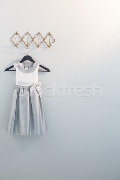 Dress hanging on hook Stock photo © wavebreak_media