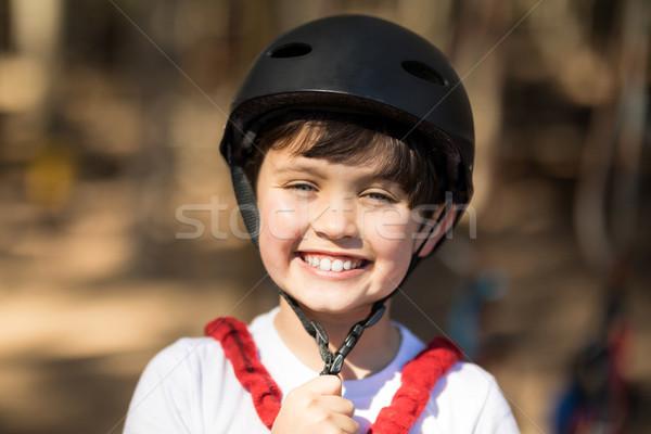 Menino capacete parque sorridente Foto stock © wavebreak_media