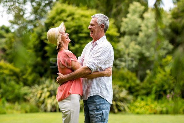 Permanente gelukkig man ouderen Stockfoto © wavebreak_media