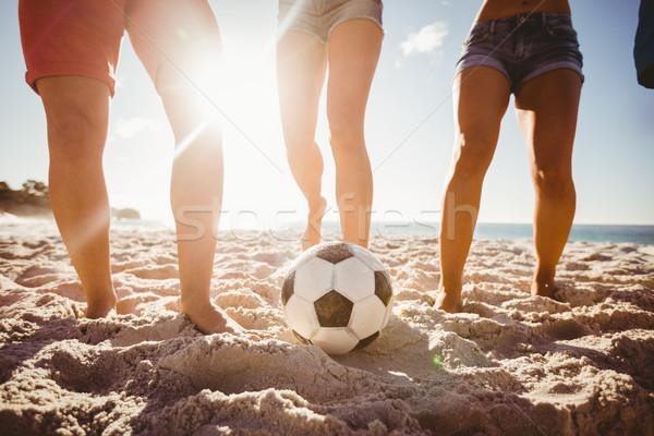 Friends playing football Stock photo © wavebreak_media