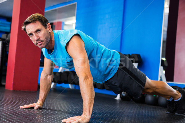 портрет серьезный спортсмена спортзал человека Сток-фото © wavebreak_media