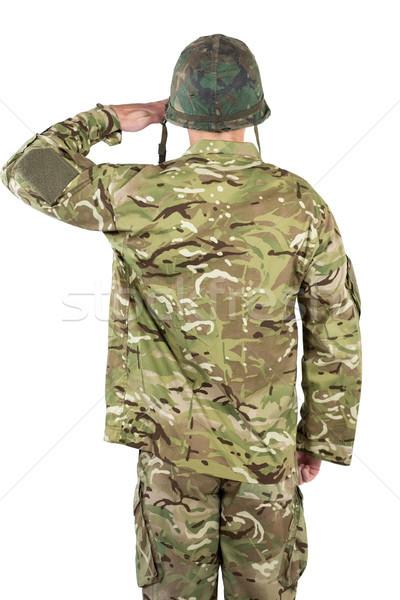 Rear view of soldier saluting Stock photo © wavebreak_media