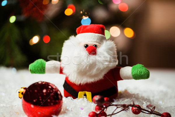 Święty mikołaj christmas ozdoby śniegu czasu domu Zdjęcia stock © wavebreak_media