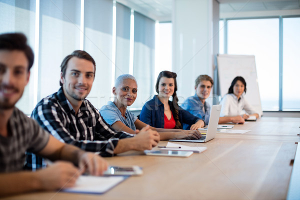 Portrait of creative business team sitting in the conference room Stock photo © wavebreak_media