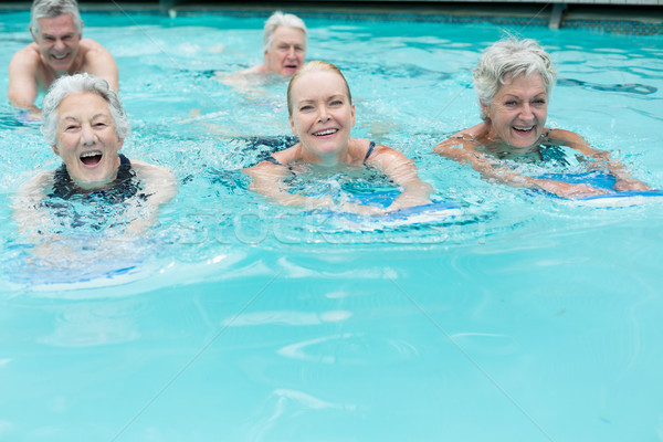 Altos piscina mujer agua hombre Foto stock © wavebreak_media