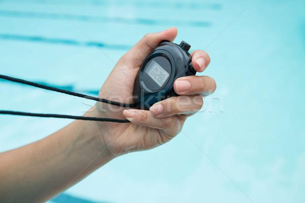 стороны тренер секундомер фитнес друзей Сток-фото © wavebreak_media