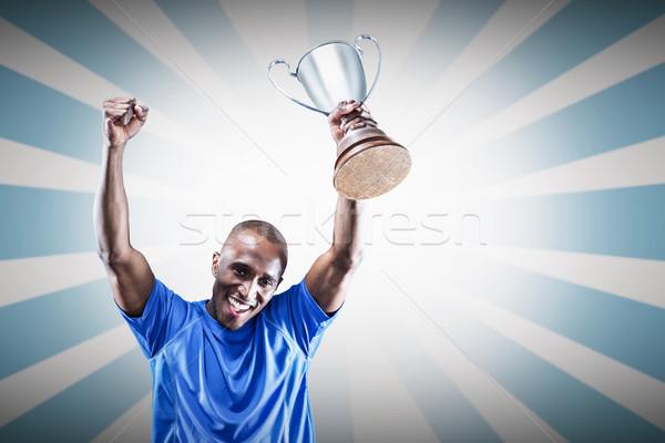 Bild Porträt glücklich Sportler Jubel Stock foto © wavebreak_media
