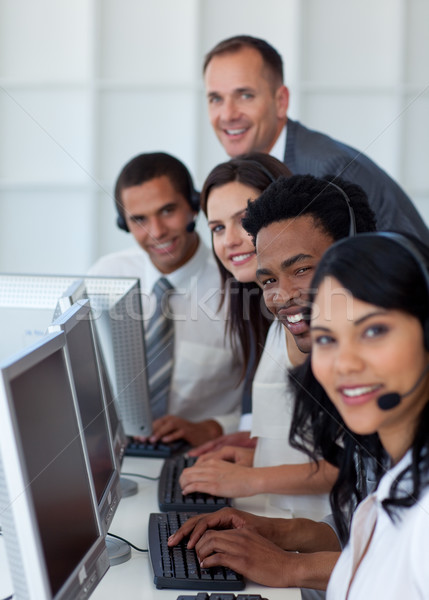Business team and manager working in a call center Stock photo © wavebreak_media