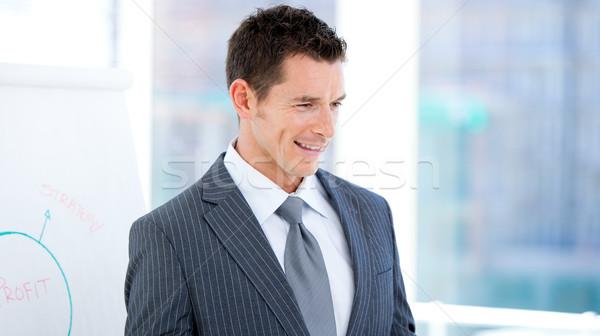 Portret charyzmatyczny biznesmen prezentacji biuro uśmiech Zdjęcia stock © wavebreak_media