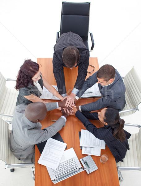 Iş ekibi eller birlikte toplantı iş Stok fotoğraf © wavebreak_media